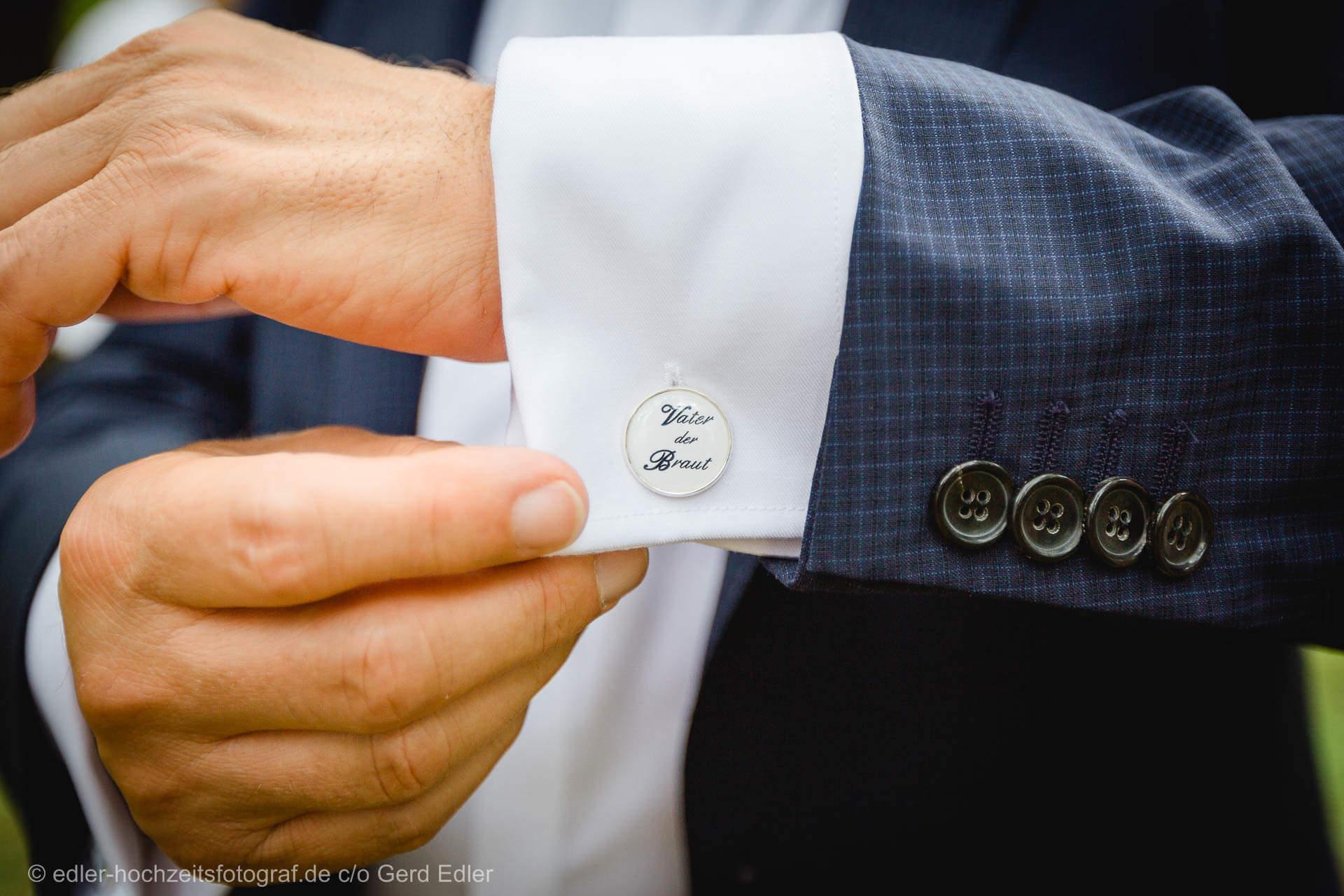 Hochzeitsfotograf - Details Manschettenknöpfe