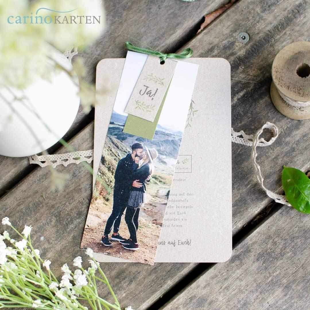 Bestellung Einladungskarten, Dankekarten für Hochzeit
